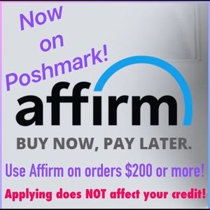 Buy now and pay later with affirm!
